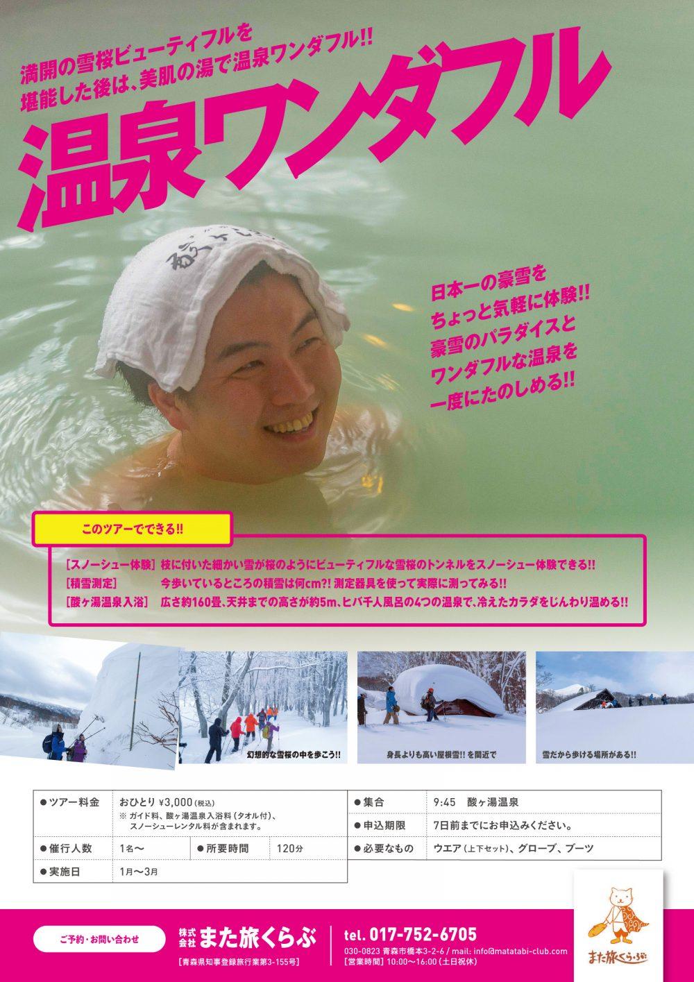 日本一の豪雪パラダイス566ツアー[フライヤー]